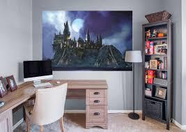 harry potter desk decor hogwarts castle mural wall decal shop fathead for harry potter decor