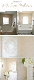 bathroom stencil ideas a bathroom makeover the drifting arrows stencil stencil