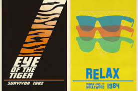 80s hits posters graphic inspiration