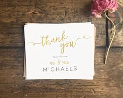 wedding gift thank you notes wedding thank you cards etsy
