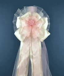 wedding bows high quality wedding pew bow genuine satin fabric and other