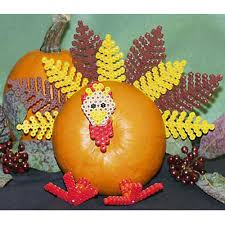 turkey pumpkins pumpkin turkey perler