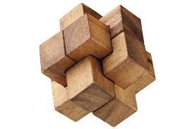 wooden puzzle burr puzzle