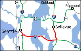 wsdot seattle traffic map wsdot seattle to bellevue on i 90