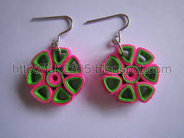 handmade paper earrings paper jewelry handmade quilling earrings flower open pe flickr