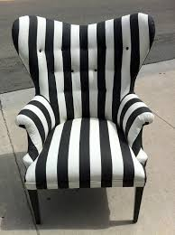 unique striped and accent chair with tufted back