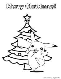 pokemon merry christmas coloring pages printable