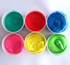 x ocaldo kids finger paint pots assorted colours washable painting
