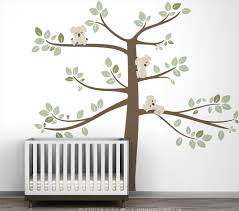 Baby Nursery Tree Wall Decals by Kids Wall Decal Large Tree Green Koala Wall Decal Decor For
