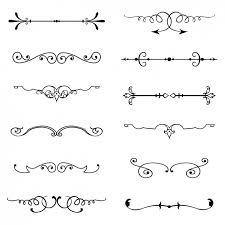 vintage ornaments set free vector pattern vector