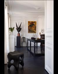 Appartement Haussmannien Deco Visite Un Appartement Haussmannien Relooké En Noir Et Blanc