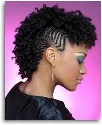 mwahahwk hairstule done using kinky mohawk hairstyle