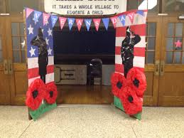 Decorate My Hallway Veterans Day Hallway Decoration Oh My Gosh The Poppies