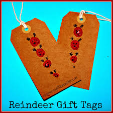 reindeer fingerprint gift tags messy little monster
