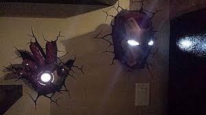 marvel 3d deco superhero wall lights thinkgeek
