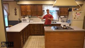 How Do I Refinish Kitchen Cabinets Out With The Old In With The New Kitchen Cabinet Refinish 9 Steps