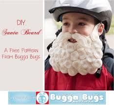 santa beard bugga bugs free diy santa beard pattern