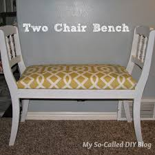 diy bench from two chairs my so called diy blog two chair bench