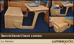 How To Build A Wooden Toy Box by Toy Box Plans Desk Toy Box Combo From Woody57 By Musicman