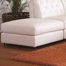 white storage ottoman guernsey studded faux leather storage