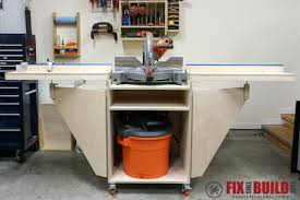 Table Saw Cabinet Plans How To Build A Mobile Miter Saw Station Part 1 Fixthisbuildthat
