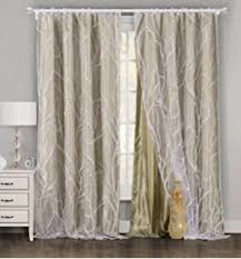 amazon com elleweideco modern tree branch window curtains drape
