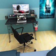 atlantic furniture gaming desk black carbon fiber atlantic gaming desk black walmart com