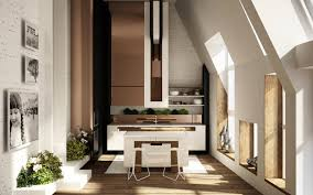 kitchen marvelous slant ceiling kitchen design nice brown sleek