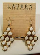 Ralph Lauren Chandelier Fashion Earrings Ralph Lauren Hook Mixed Metals Chandelier Fashion Earrings Ebay