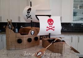boys kids costume diy cardboard pirate ship tamara u0027s joy
