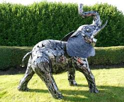 garden sculptures and ornaments big metal elephant statue and
