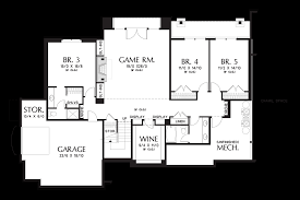 Ranch House Floor Plans With Basement Mascord House Plan 2467 The Hendrick