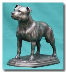 staffordshire bull terriers figures breed sculptures