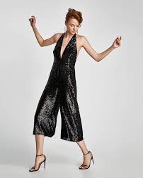 halter neck jumpsuit sequinned halter neck jumpsuit collection sale zara