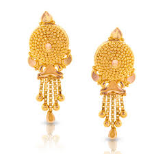 gold earings divi beaded gold drop earrings jewellery india online caratlane