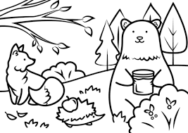 autumn animals coloring free printable coloring pages