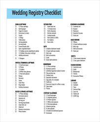 registry list for wedding 6 registry checklist exles sles wedding registry list