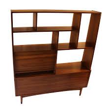 Mid Century Modern Bookcase Mid Century Modern Room Divider Bookcase Hutch