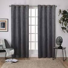 Gray Blackout Curtains Blackout Gray Curtains Drapes Window Treatments The Home