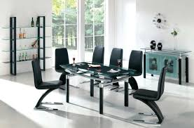 dining room modern sleek and elegant black dining room sets with