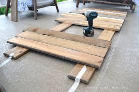Diy Pallet Sofa Table How I Built The Pallet Wood Sofa Part 2 Funky Junk Interiors