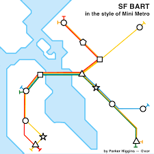 Bart Line Map by Mini Metro Fan Art Sf Bart