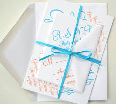 wedding invitation ideas blue letterpress wedding invitations