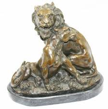 lioness statue g gardet bronze lion and lioness statue