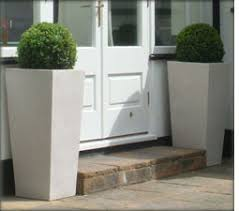 Black And White Planters by Large Black And White Resin Garden Patio Planters Riverhill