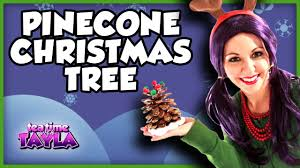 pine cone christmas tree arts and crafts for children