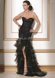 say yes to the dress black wedding dress hourglass gown strapless outdoor garden featured from