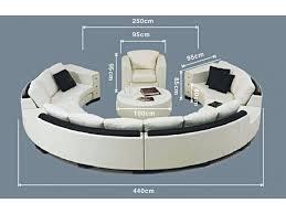 canapé demi cercle canapé rond en cuir alicante 3 modules 3 places pop design fr