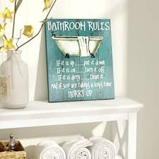 wall decor ideas for bathroom bath laundry wall