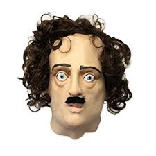 Super Scary Halloween Masks Amazon Com Edgar Allan Poe Mask Super Creepy Off The Wall